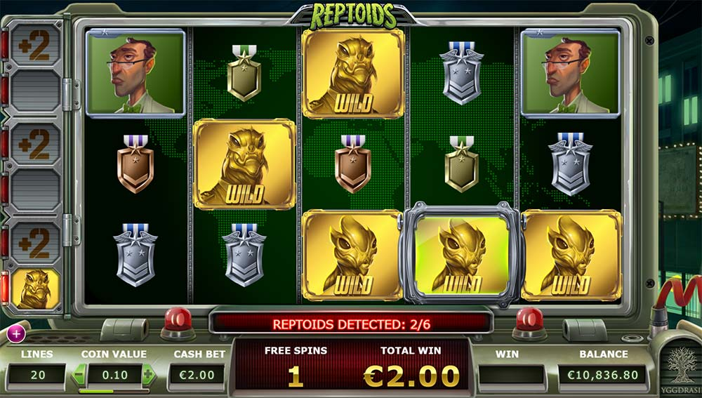 Reptoids Slot - Detected Wilds