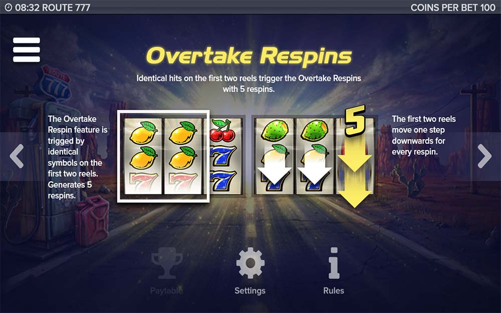 Route 777 Slot - Overtake Respins