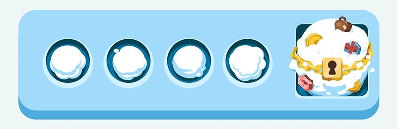 Snowballs Collected Meter