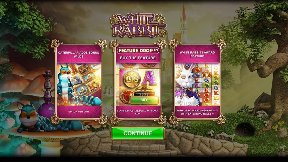 White Rabbit Slot - Intro Screen
