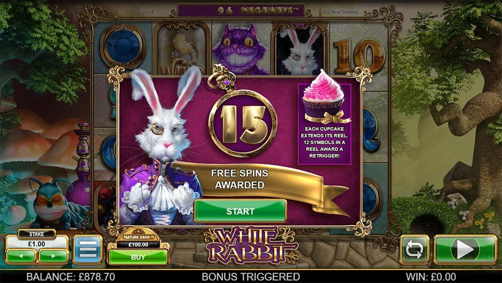White Rabbit Slot - Free Spins Trigger