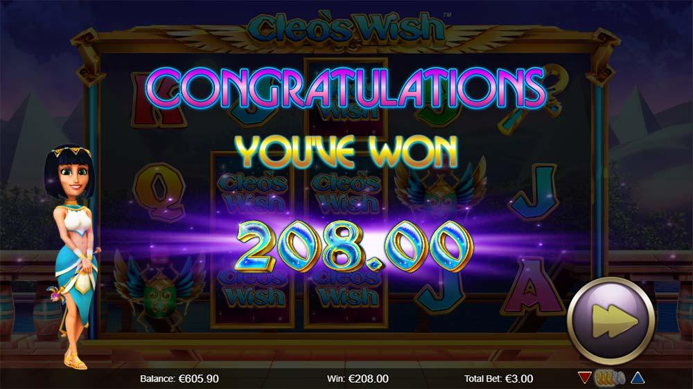 Cleo's Wish Slot - Bonus End