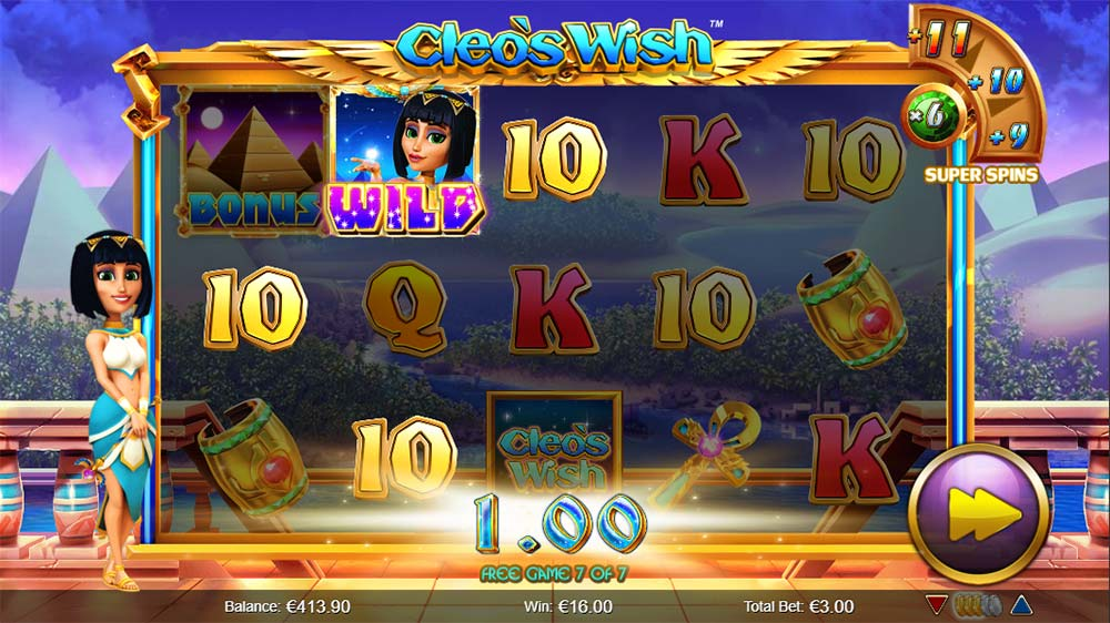 Cleo's Wish Slot - Eternal Riches Free Spins