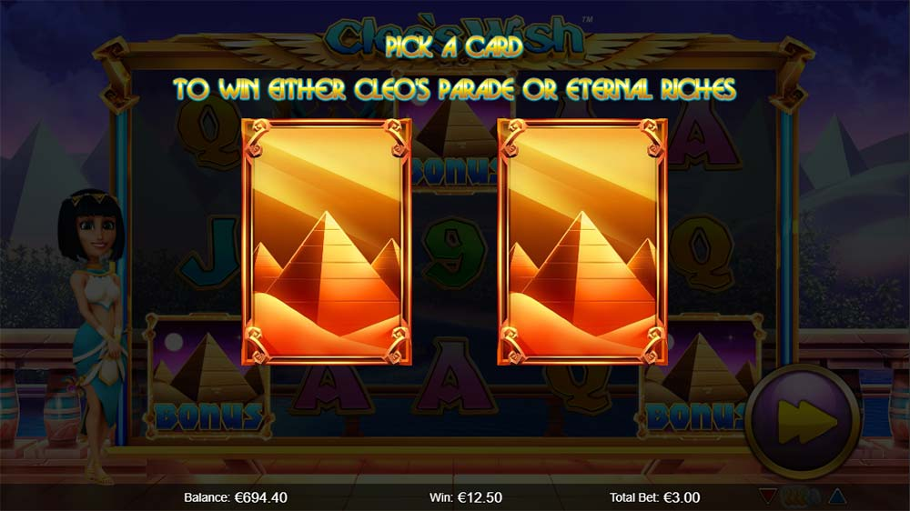Cleo's Wish Slot - Free Spins Trigger