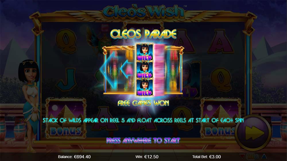 Cleo's Wish Slot - Cleo's Parade Free Spins