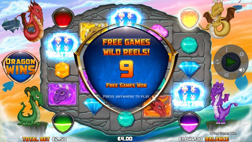 Dragon Wins Slot - Wild Reel Free Spins