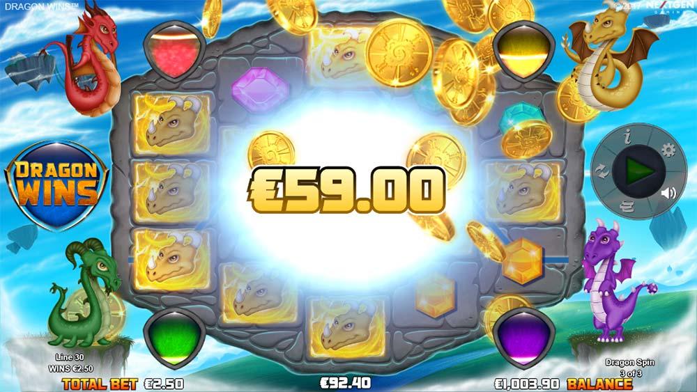 Dragon Wins Slot - Yellow Dragon Spins