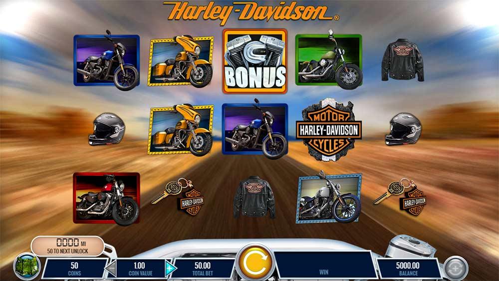 Harley Davidson Freedom Tour Slot - Base Game