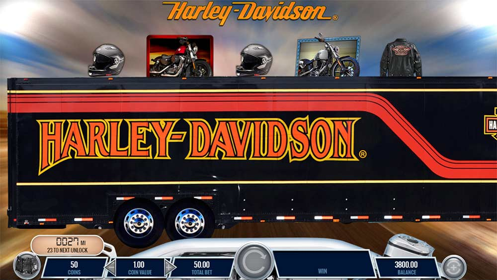 Harley Davidson Freedom Tour Slot - Rumbling Wilds Feature