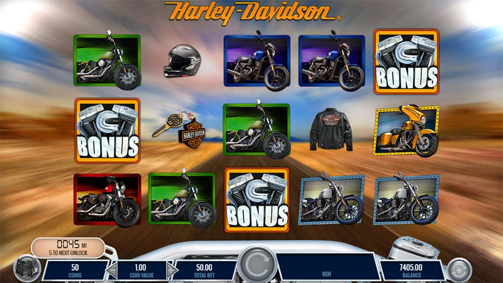 Harley Davidson Freedom Tour Slot - Bonus Trigger