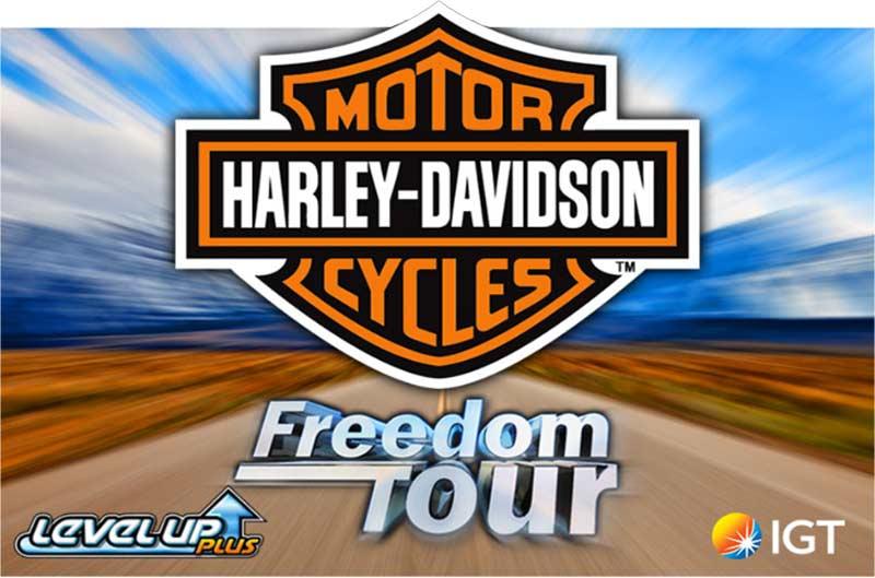 Harley Davidson Freedom Tour Slot Logo