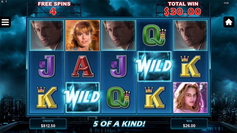 Highlander Slot - 5 of a kind win