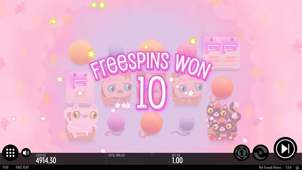 Not Enough Kittens Slot - Free Spins