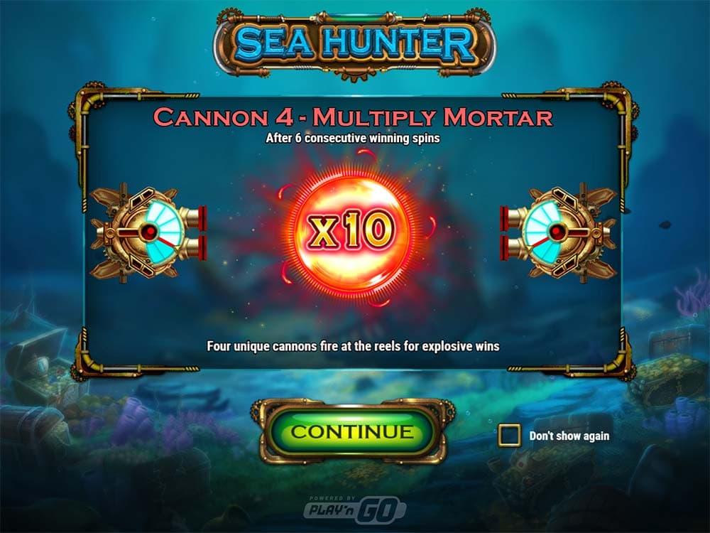 Sea Hunter Slot - Intro Screen