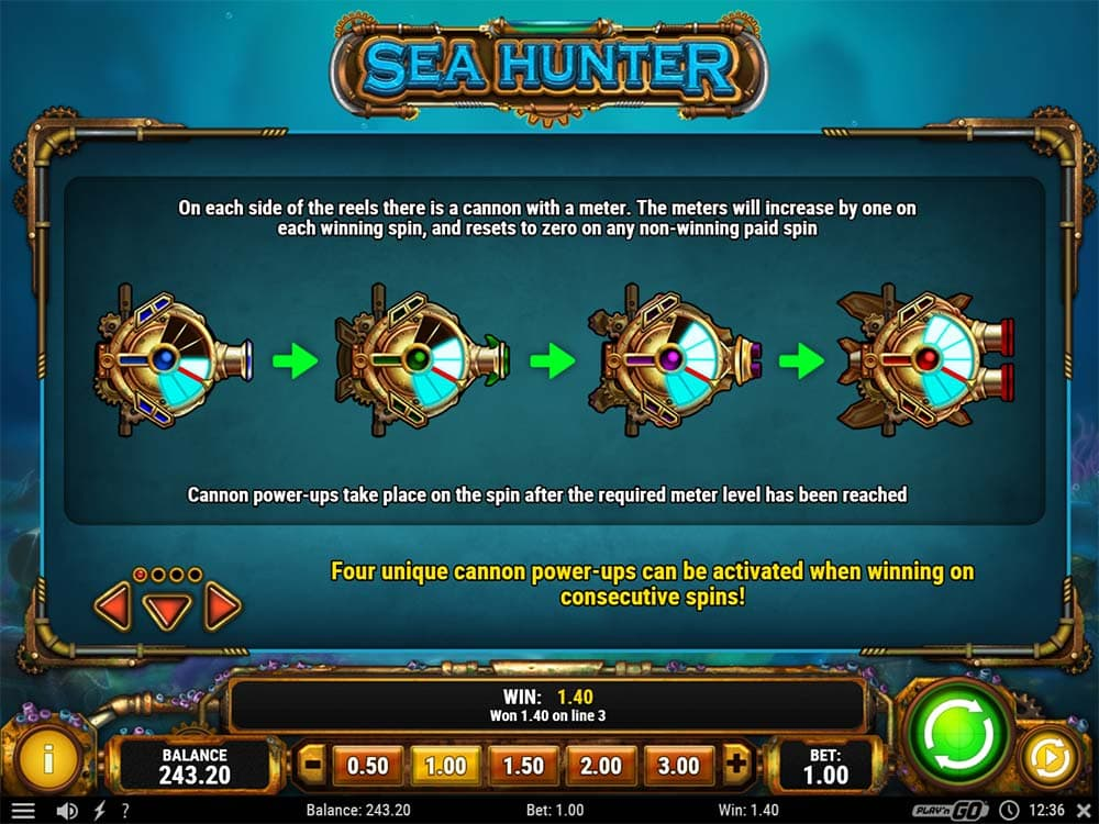 Sea Hunter Slot - Cannon Power Ups