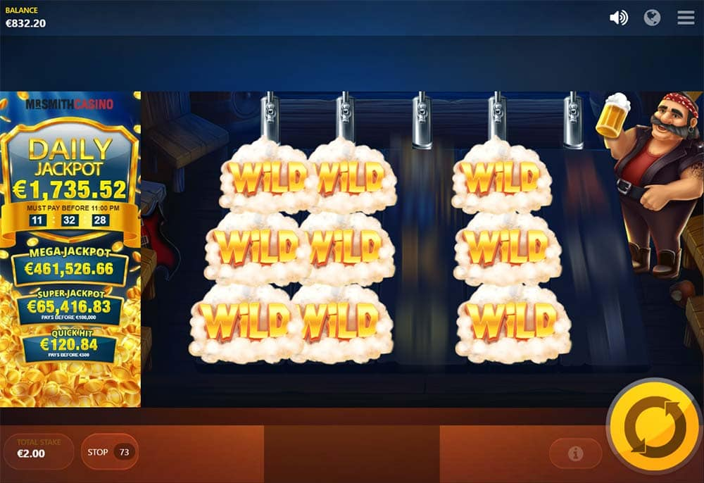 Snow Wild and the 7 Features Slot - Wild Reels Feature in action
