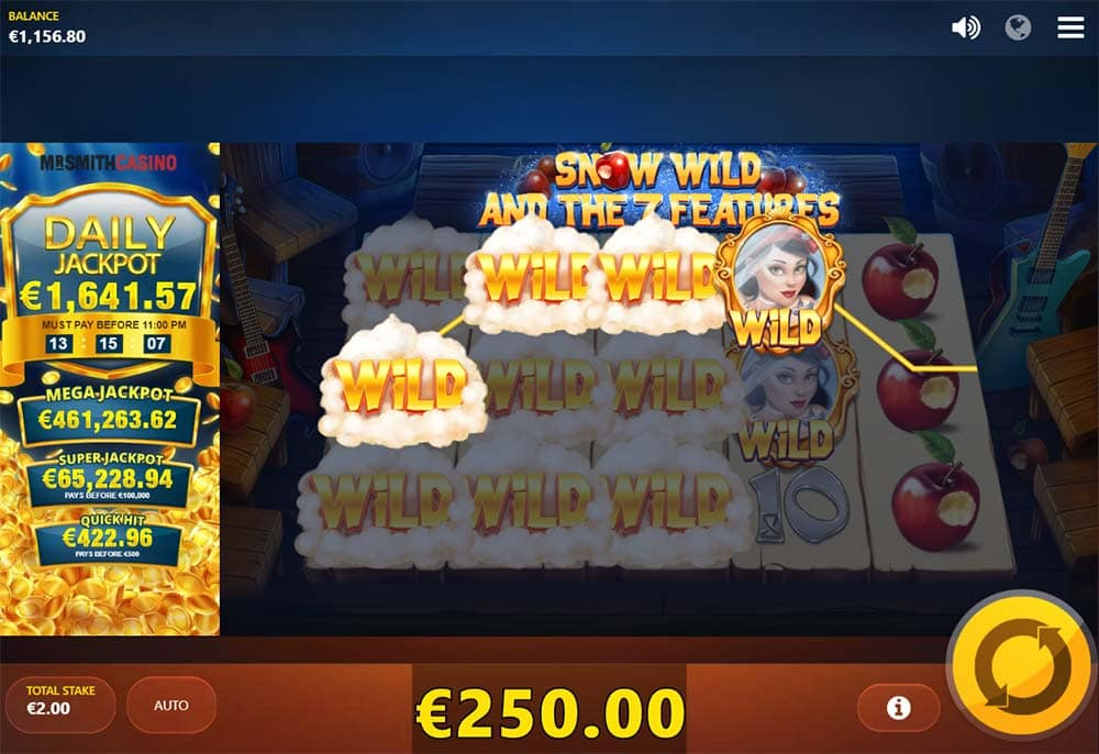 Snow Wild and the 7 Features Slot - Wild Reels Feature