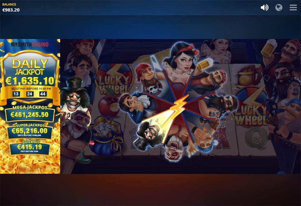 Snow Wild and the 7 Features Slot - Bonus Wheel