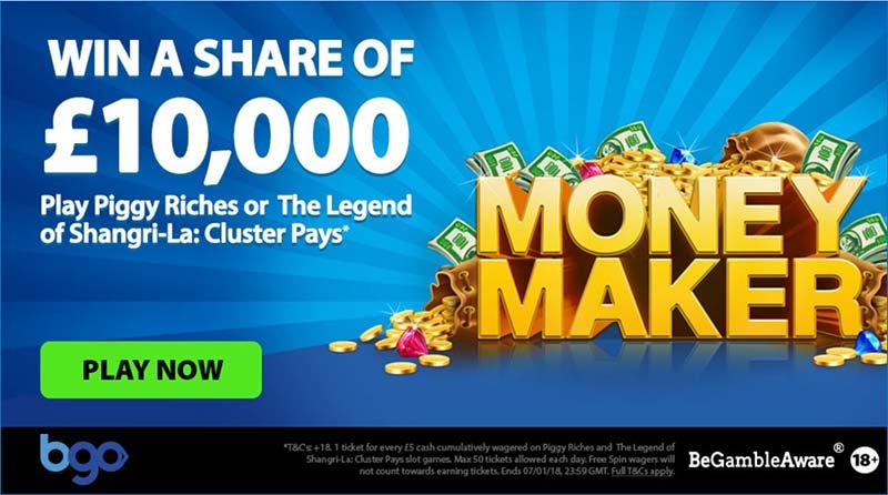 £10,000 Money Maker Promotion at BGO Casino