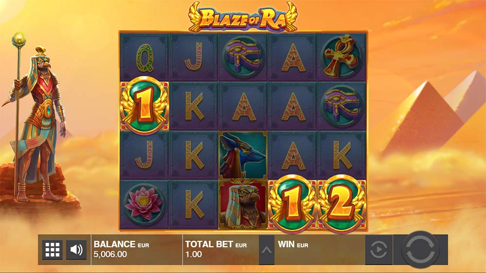 Blaze of Ra Slot - Free Spins Triggered