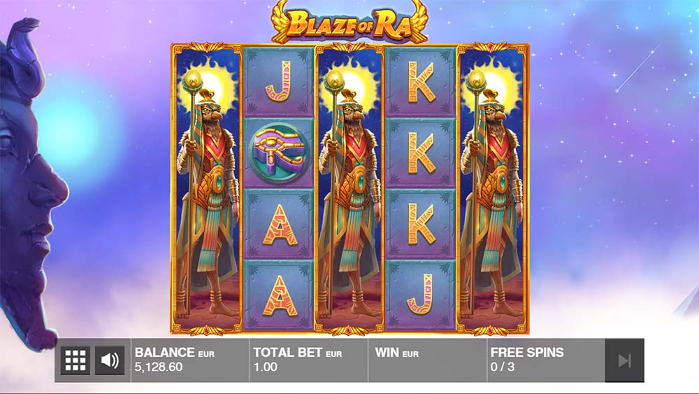 Blaze of Ra Slot - Free Spins with Wild Reels