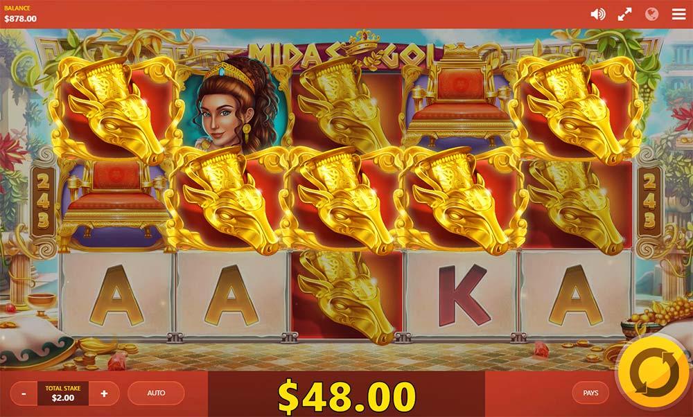 Midas Gold Slot - Premium Symbol Win