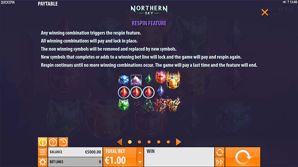 Northern Sky Slot - Re-Spin Feature Explained