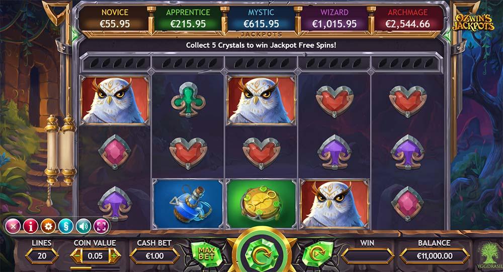 Ozwin's Jackpots Slot - Base Game