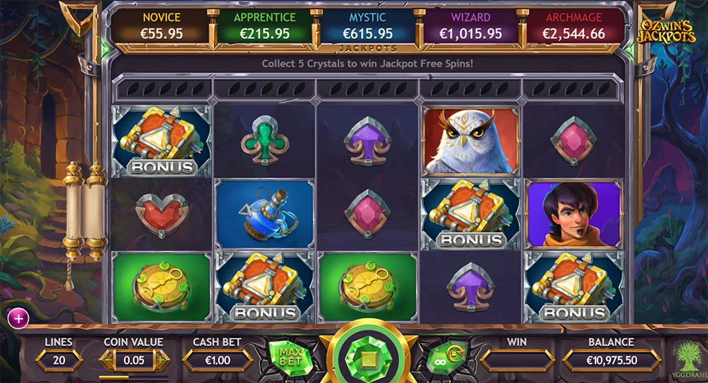 Ozwin's Jackpots Slot - Picking Round Trigger