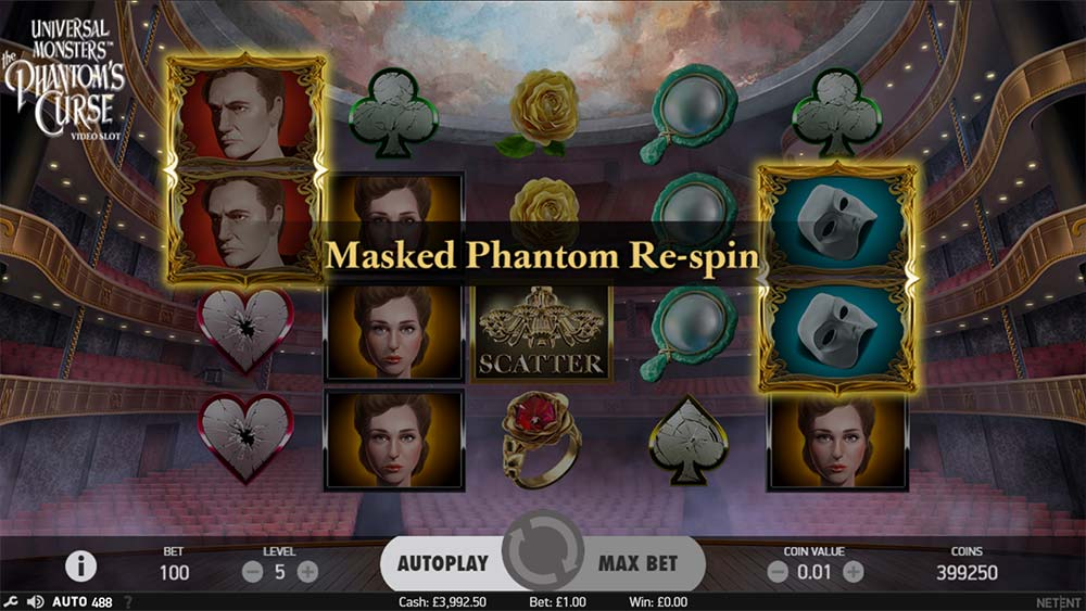 Phantom's Curse Slot - Masked Re-Spin Feature