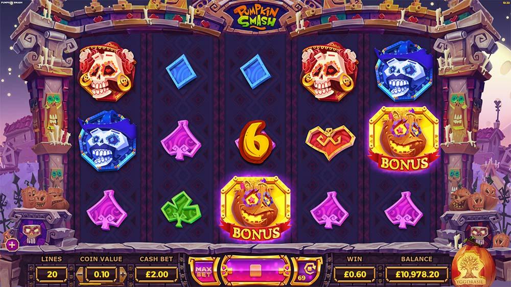 Pumpkin Smash Slot - Bonus Trigger
