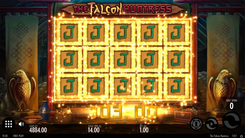 The Falcon Huntress Slot - Full Expanding Jack Symbols