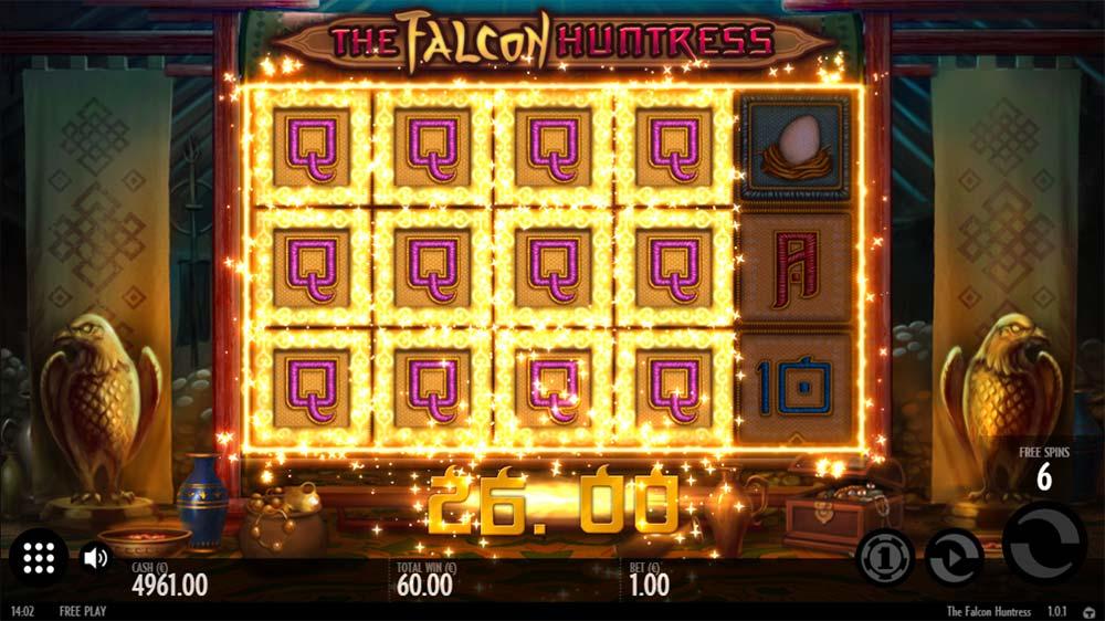 The Falcon Huntress Slot - Expanding Queen Symbols