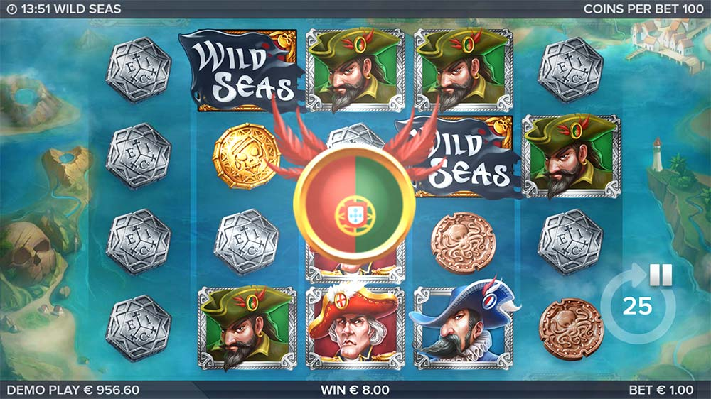 Wild Seas Slot - Bonus Trigger