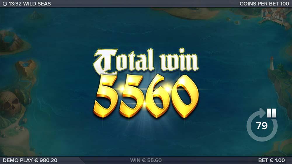 Wild Seas Slot - Bonus End