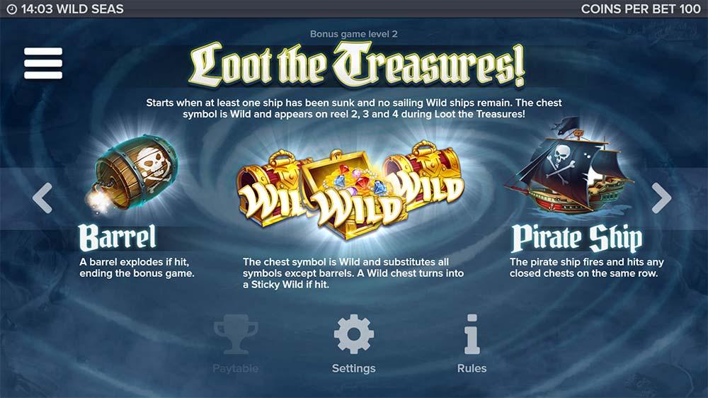 Wild Seas Slot - Level 2 Bonus Info