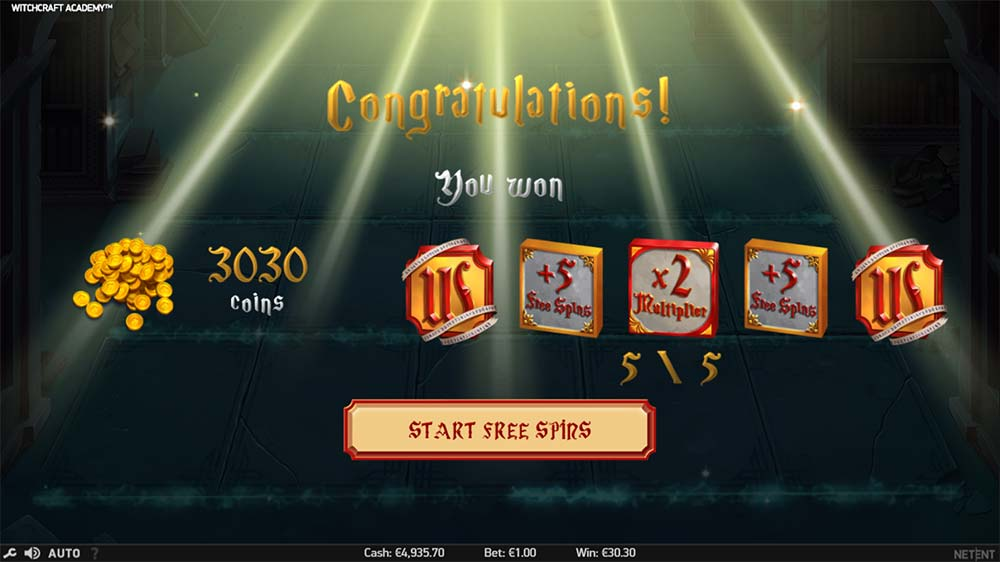 Witchcraft Academy Slot - Free Spins Start