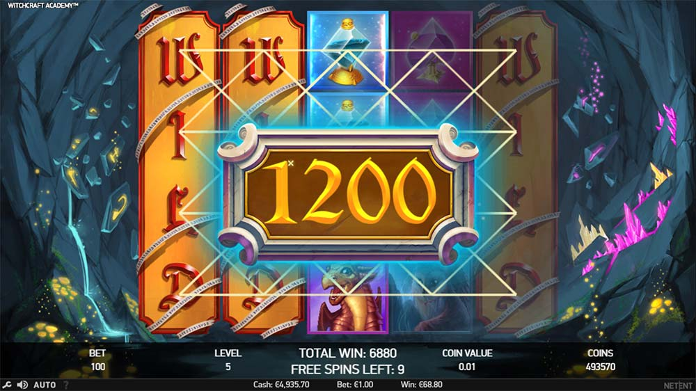 Witchcraft Academy Slot - Free Spins with Wild Reels