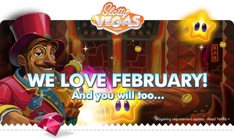 Slotty Vegas Casino February Promotions