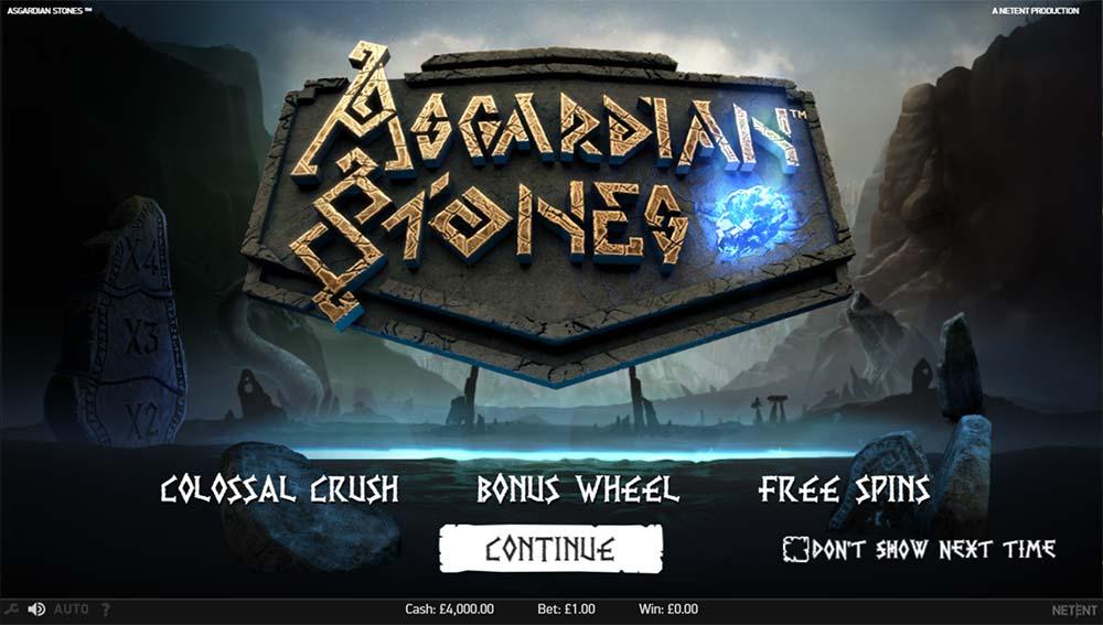 Asgardian Stones Slot - Intro Screen