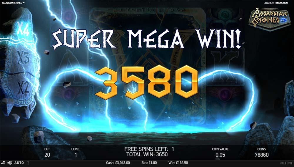 Asgardian Stones Slot - Super Mega Win