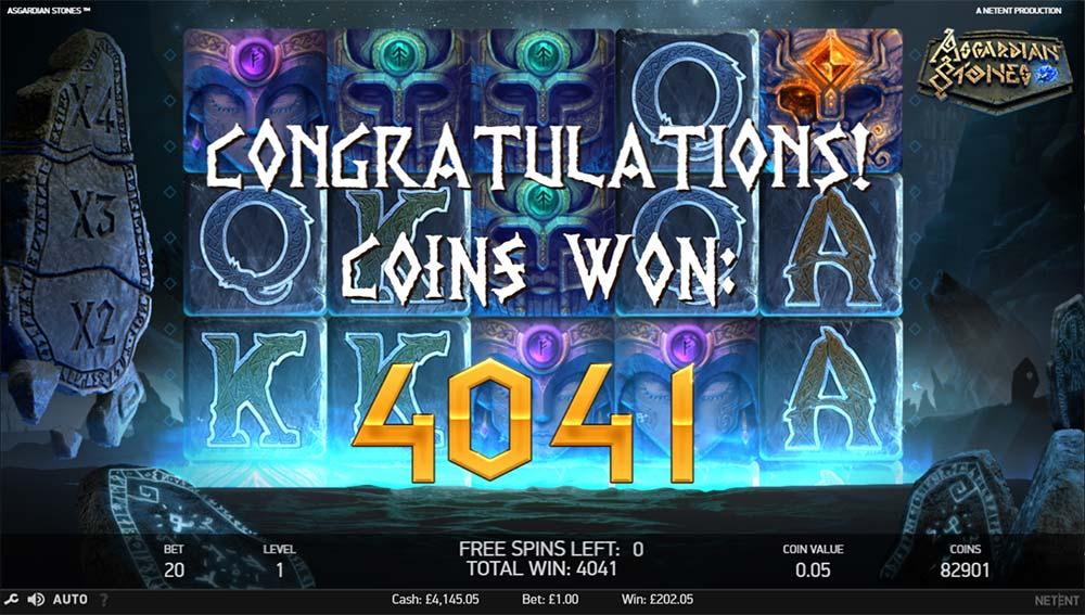 Asgardian Stones Slot -Bonus End