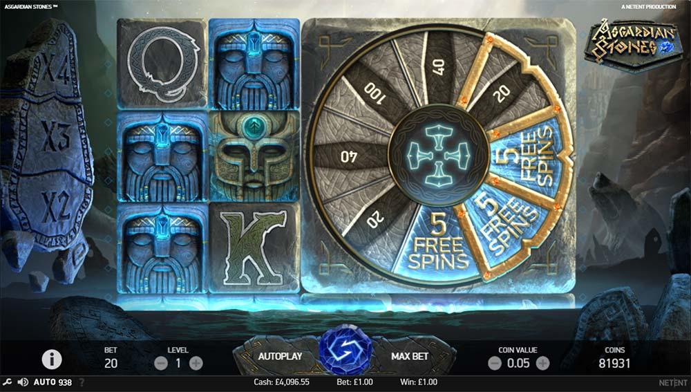 Asgardian Stones Slot - Bonus Wheel