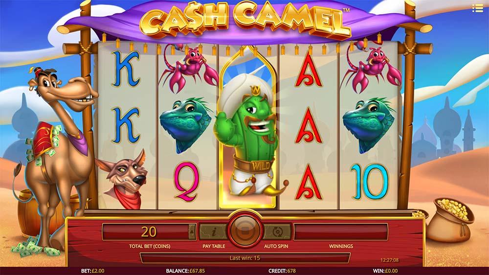 Cash Camel Slot - Cactus Free Spins Trigger