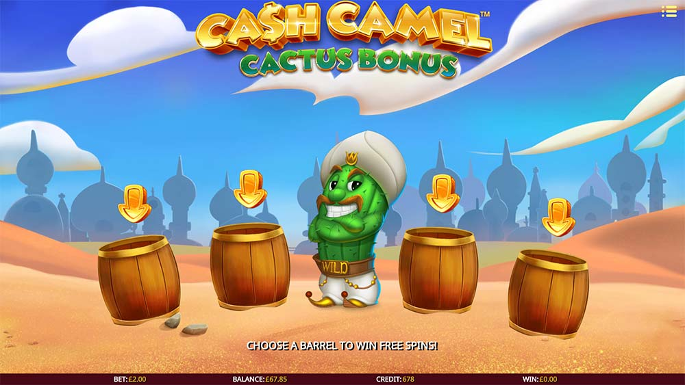 Cash Camel Slot - Cactus Bonus Free Spins Picking Round