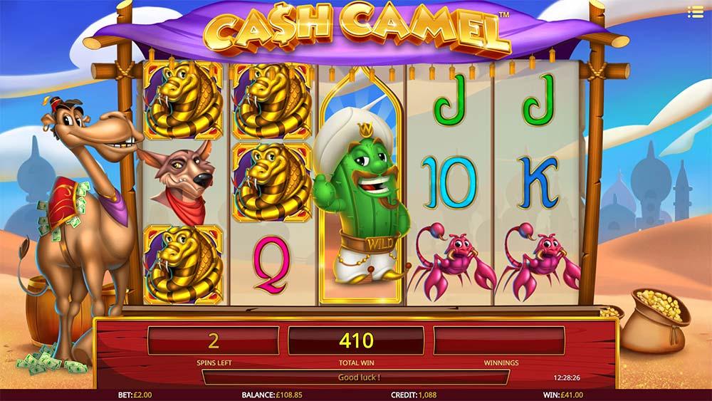 Cash Camel Slot - Winning Symbols Re-Spins