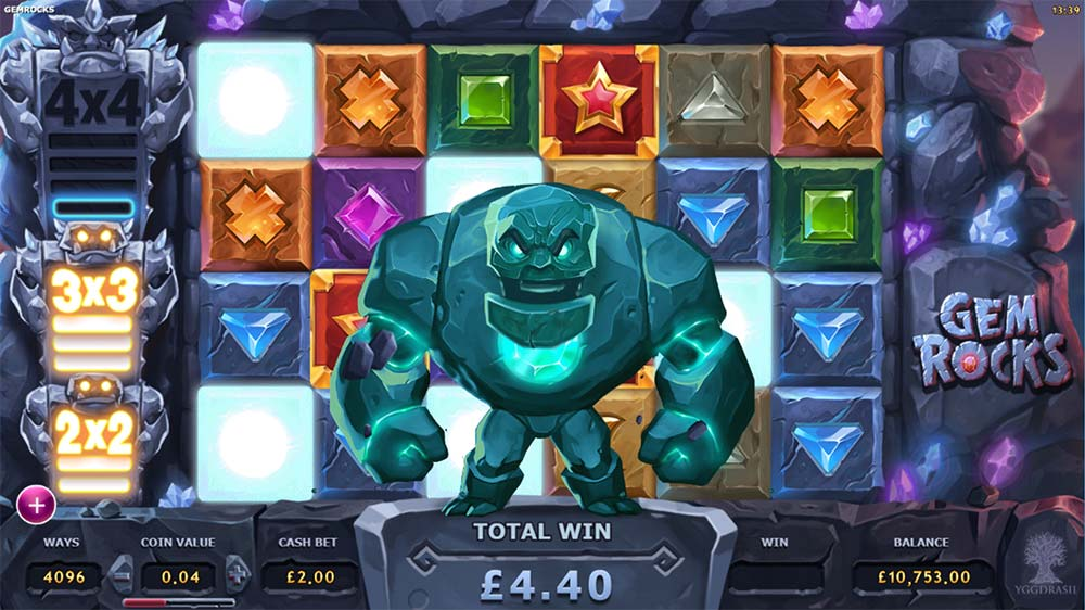 Gem Rocks Slot - 3x3 Rock Feature