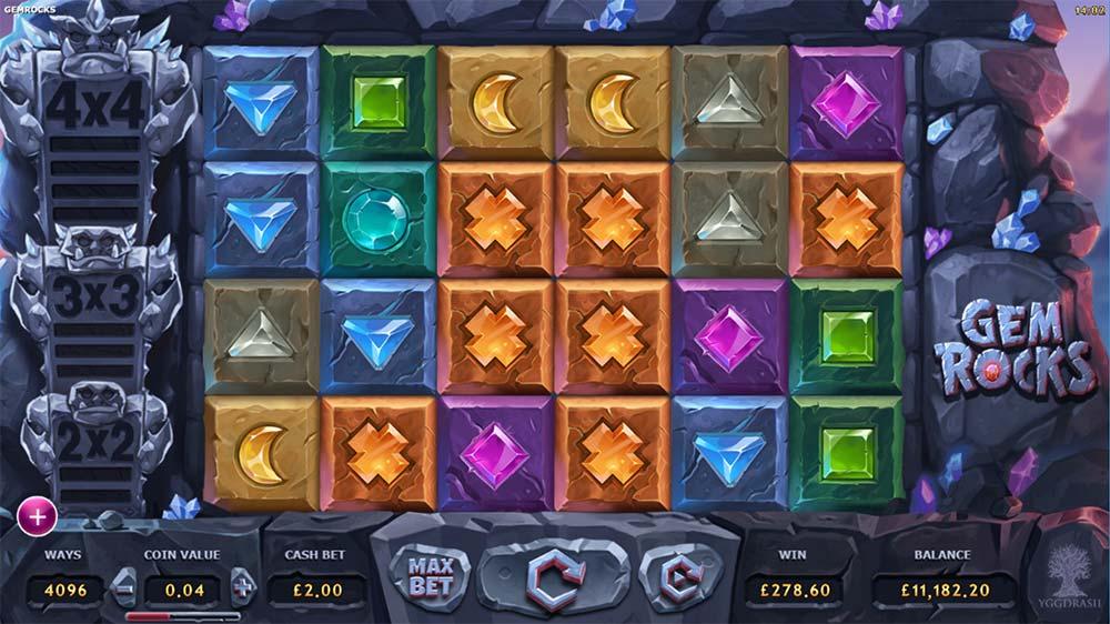 Gem Rocks Slot - Big Win Complete