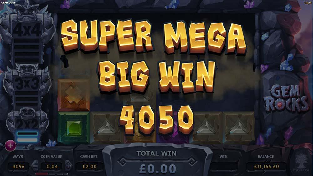 Gem Rocks Slot - Super Mega Big Win