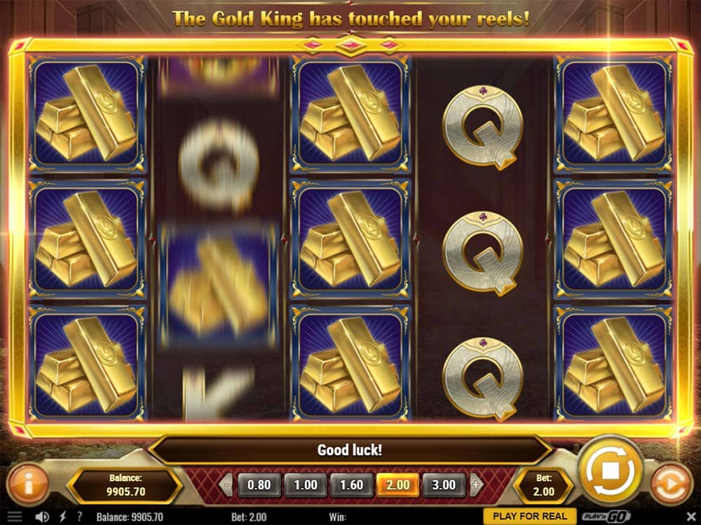 Gold King Slot - Golden Spin Feature
